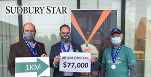 Sudbury photo: Rocks virtual marathon raises $77,000