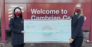 Sudbury businesses come through to help Cambrian College students